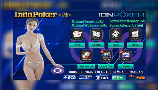 Agen Ceme Idnplay Deposit Via OVO 10Rb